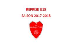 REPRISE U15 ! Saison 2017-2018 - PLATEAU DE QUINCAMPOIX F.C