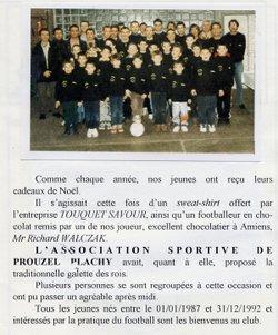 1998 / 1999 - Association Sportive Prouzel-Plachy