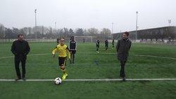Match U15 SC DOUAI/le SC AMIENS en janvier 2017.coup d'envoi par Mr le Maire de Douai - SPORTING CLUB DE DOUAI