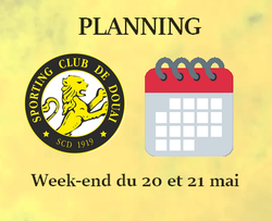 PLANNING WEEK-END DU 20 ET 21 MAI