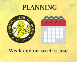 PLANNING WEEK-END DU 20 ET 21 MAI