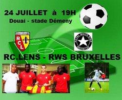 24 juillet à Démeny , RC.LENS - RWS BRUXELLES en match de préparation.