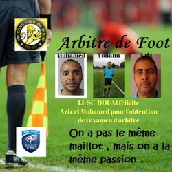 Le SC Douai félicite Mohamed et Aziz qui ont réussi l'examen d'arbitre