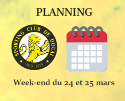 PLANNING WEEK-END DU 24 ET 25 MARS