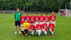 Maxime Muller et son équipe de u 14 - S.C.Schiltigheim