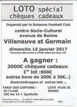 LOTO du S.F.C à Villeneuve st Germain 15 janvier 2017