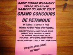 Grand Concours de Pétanque du Club le samedi 5 août - ST PIERRE SPORT FOOTBALL