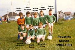 Les équipes saison 1980-1981 - Saint Sébastien Football