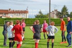 Reprise des entraînements pour les U14/U17 Féminine. - STADE RUFFECOIS