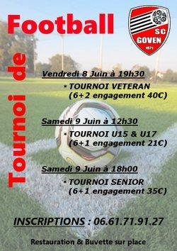 Tournois vétérans U15/U17 et Seniors