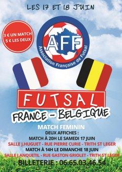 Accueil de 2 matchs France - sélection Belge féminine à Trith Saint Léger