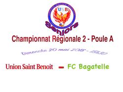 Journée 6 - Régionale 2 - Poule A - UNION SAINT BENOIT