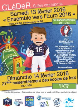 Planning tournoi ensemble vers l'euro et rassemblement des écoles de foot.