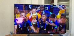US Lieuvillers :Supporters des bleus lors de la Finale de la Coupe du Monde 2018 - U.S Lieuvillers