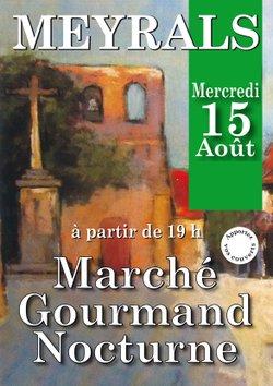 Marché Gourmand à Meyrals le 15 aout