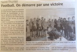 ARTICLES DE PRESSE - Union Sportive de Saint-Thurien