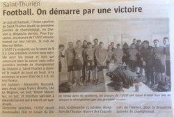 ARTICLES DE PRESSE - Union Sportive de Saint-Thurien