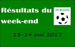 Résultats du week-end du 13-14 mai 2017