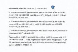 Détections U 15 - U 17 - U 19