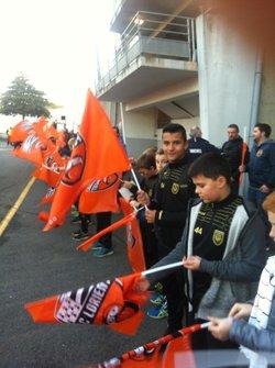 """""""protocole rond central"""" FC Lorient pour les U13 - UNION SPORTIVE CLOHARSIENNE"""