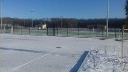 Les terrains de l USP sous la neige - UNION SPORTIVE LE POINCONNET FOOTBALL