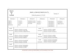 Calendriers U6/U7