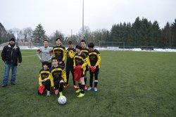 U15 sous la neige le 24/01/2015 - US Veyziat