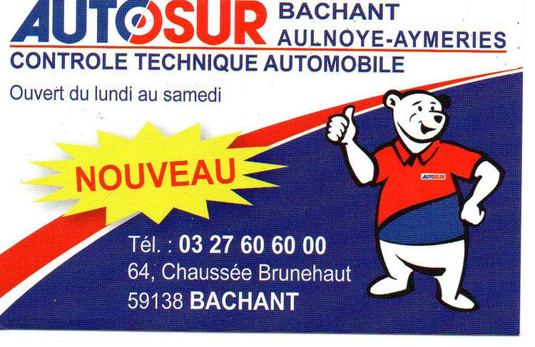 AUTOSUR BACHANT-AULNOYE AYMERIES CONTROLE TECHNIQUE AUTOMOBILE