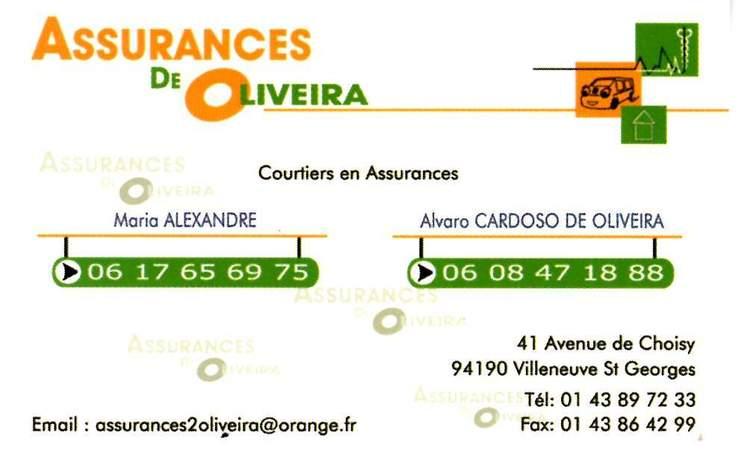Assurances DE OLIVEIRA