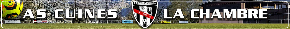 Site Internet officiel du club de football A.S Cuines La Chambre