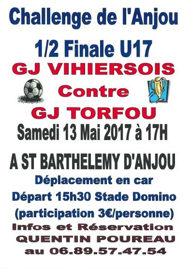 1/2 Finale challenge de l'anjou U17
