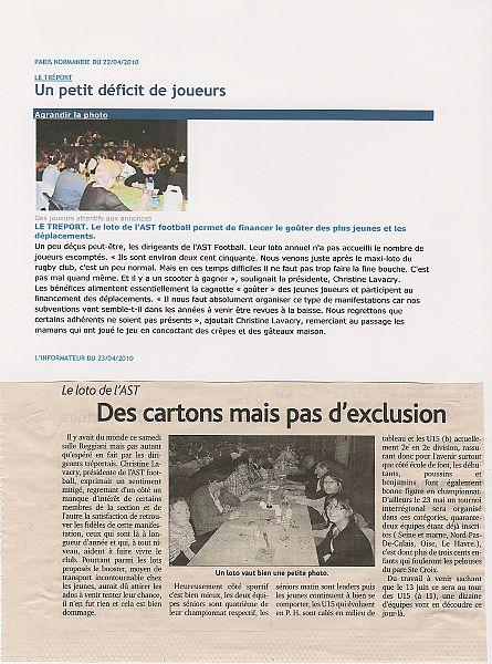 Loto de l'AST 17/04/2010
