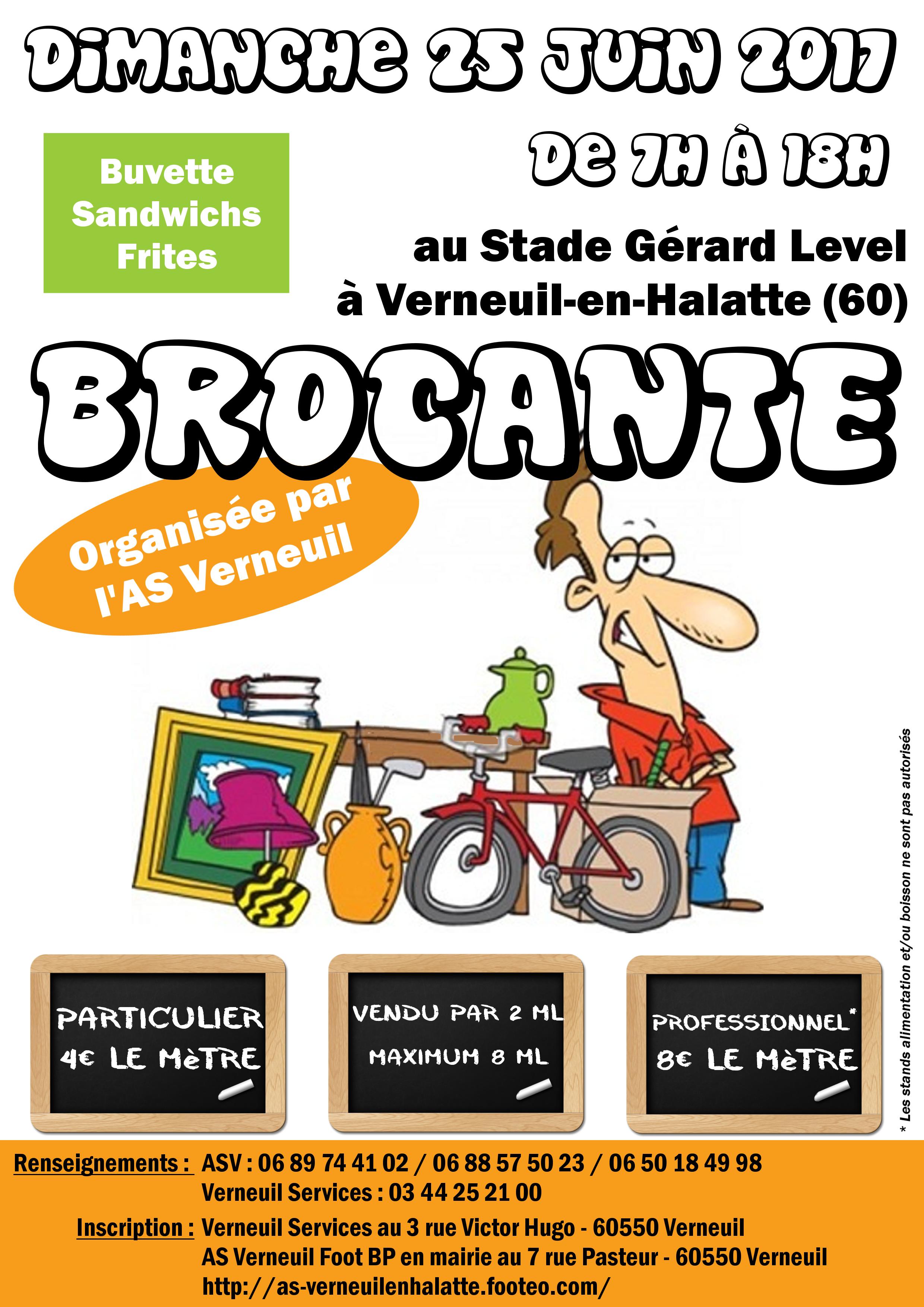 Brocante à Verneuil-en-Halatte le Dimanche 25 juin 2017