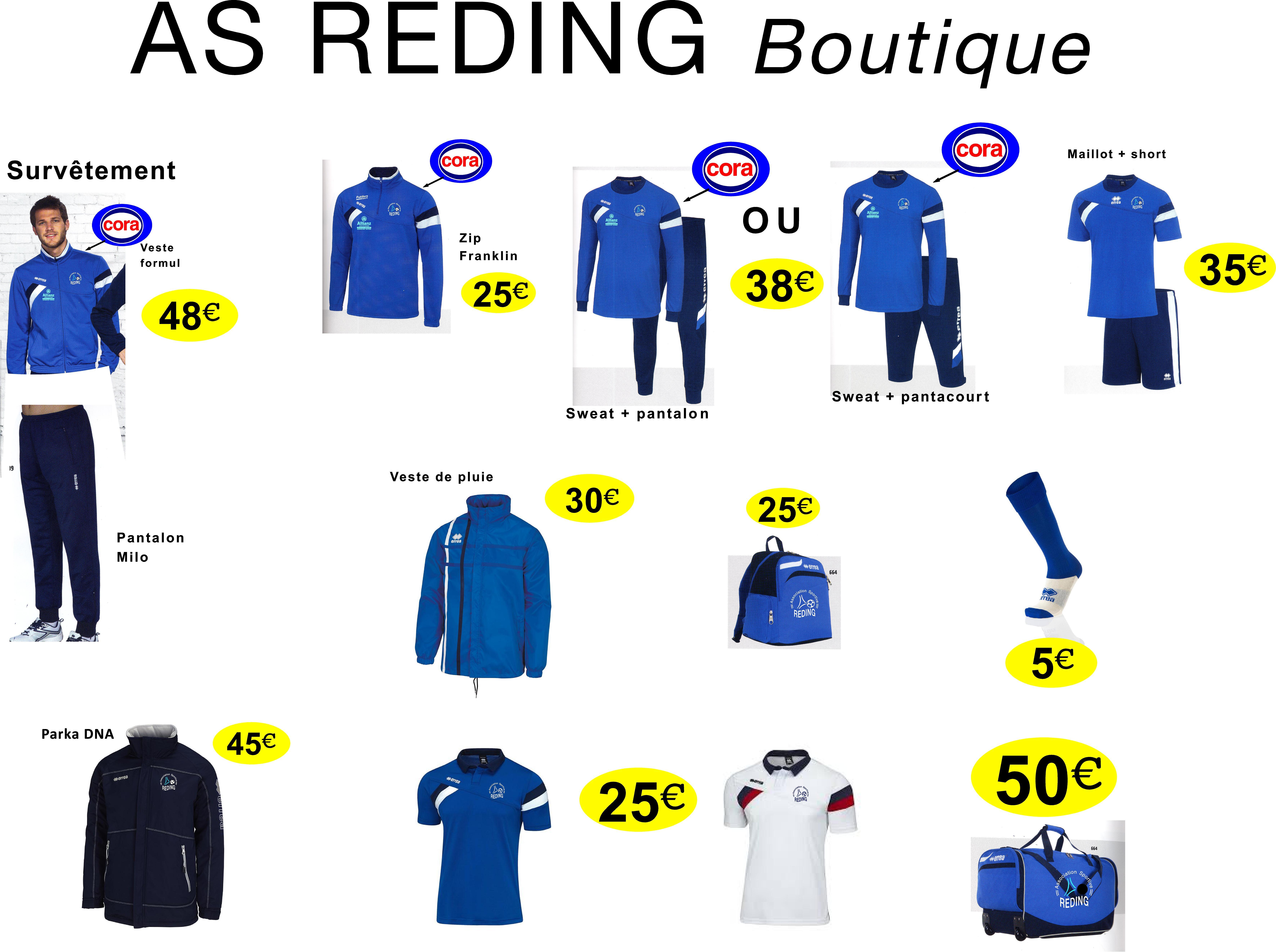 Boutique 2015 à 2017