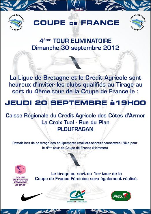 Actualit tirage 4 me tour de coupe de france club - Tirage eme tour coupe de france ...