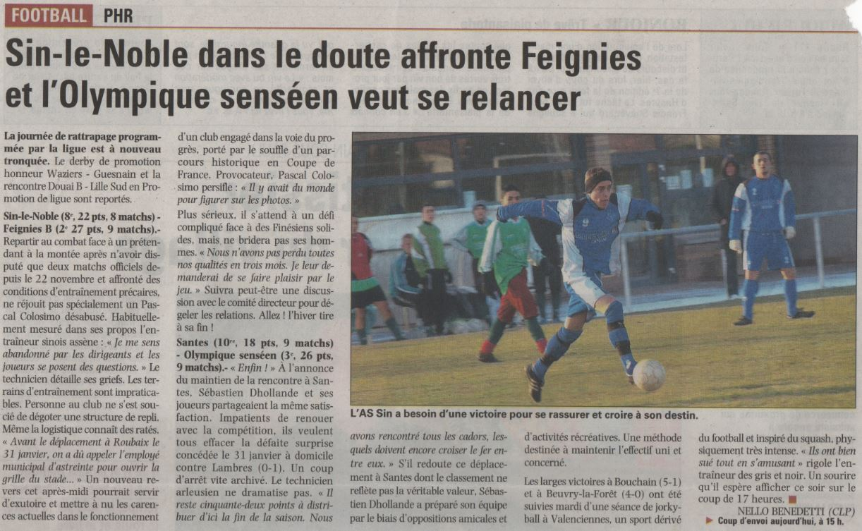 Le coin presse club football association sportive sin le for Reglement interieur association sportive football