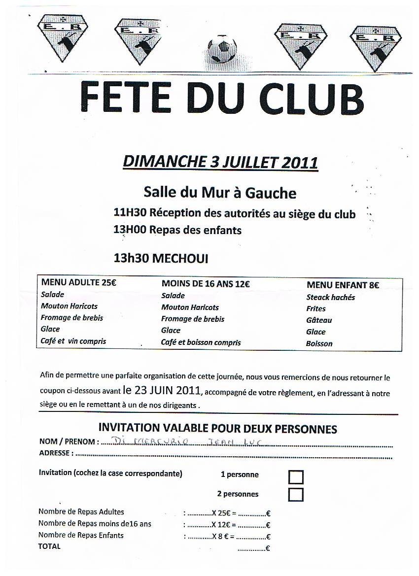 FETE DU CLUB