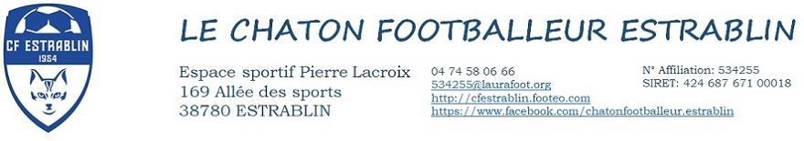CHATON FOOTBALLEUR D'ESTRABLIN : site officiel du club de foot de ESTRABLIN - footeo