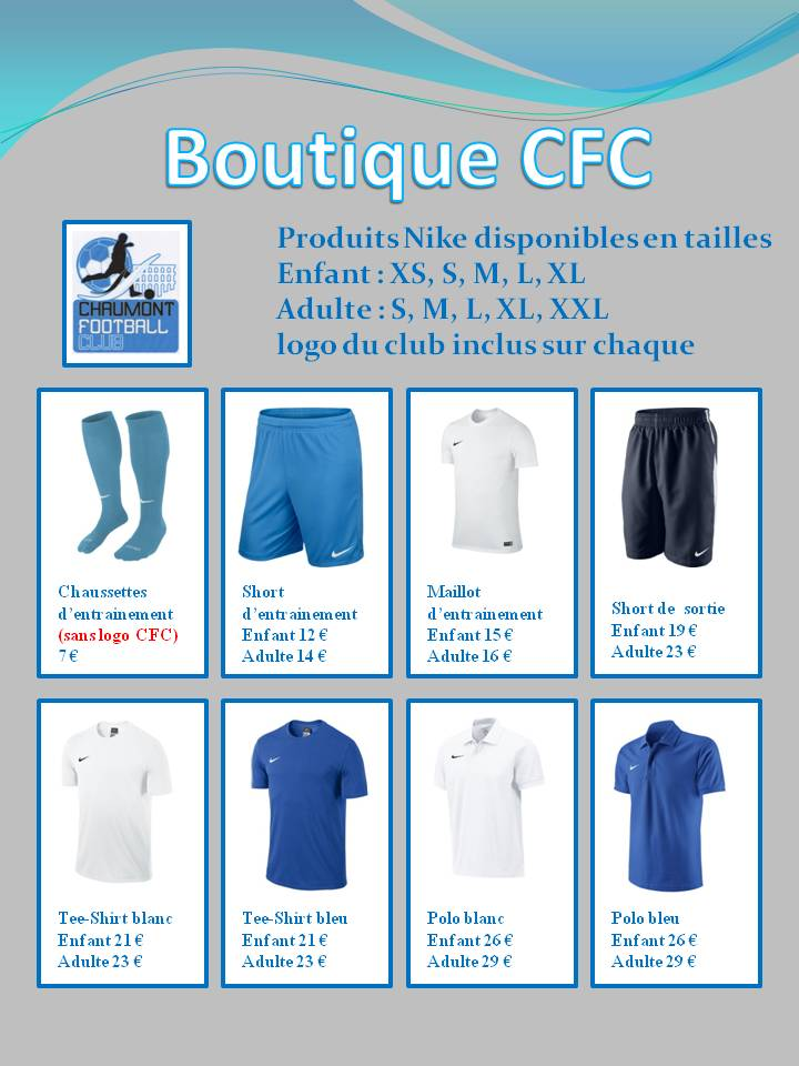 boutique cfc club football chaumont football club footeo. Black Bedroom Furniture Sets. Home Design Ideas