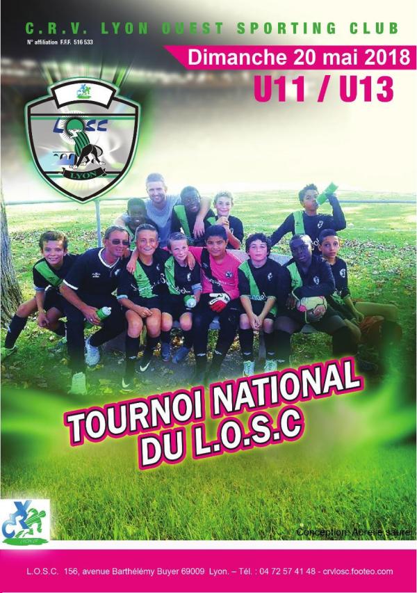 Image de la plaquette du tournoi U11/U13 page 1