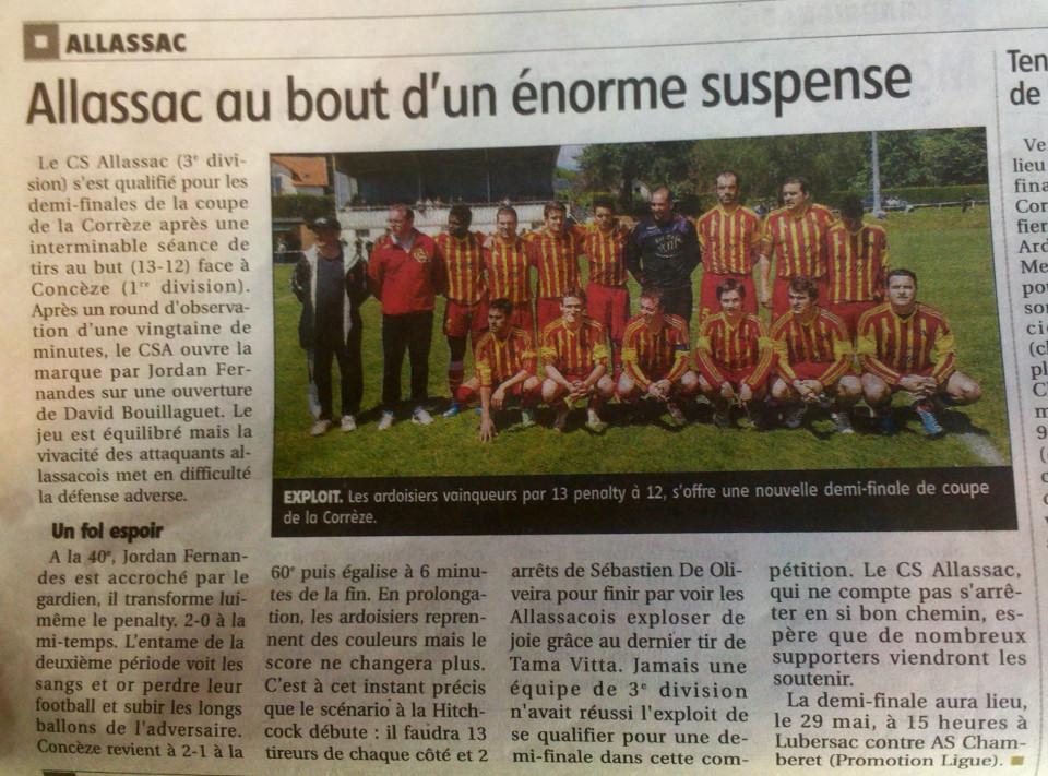 Article La Montagne du 22 Mai 2014