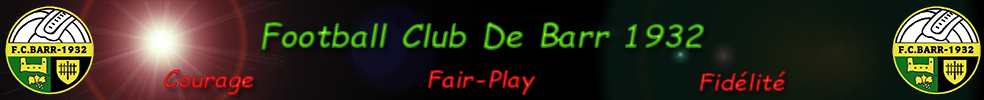 Site Internet officiel du club de football Football Club De Barr 1932