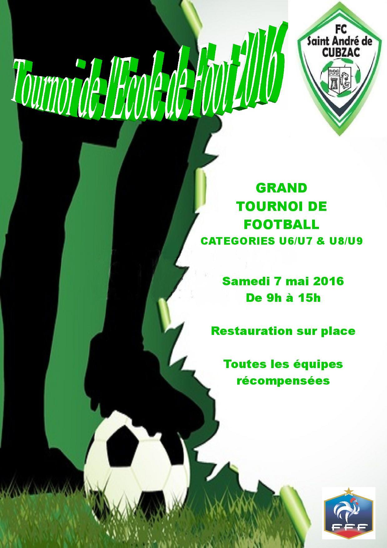 AFFICHE TOURNOI ECOLE DE FOOT 2016