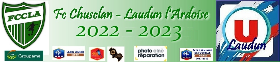 FC CHUSCLAN LAUDUN L' ARDOISE : site officiel du club de foot de LAUDUN - footeo
