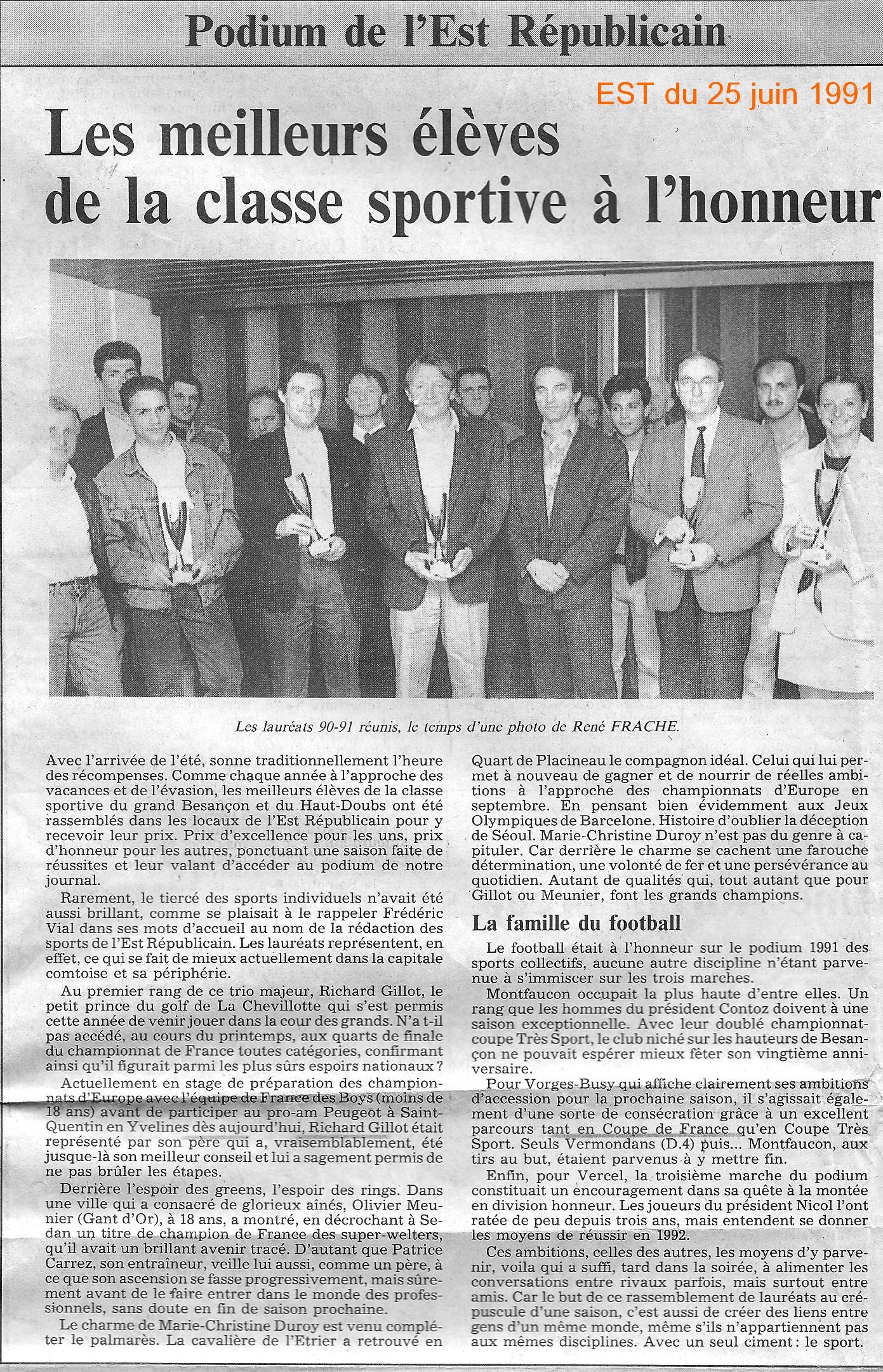 Podium EST 25 06 1991