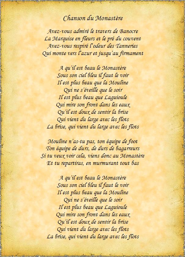 chanson du monasterien