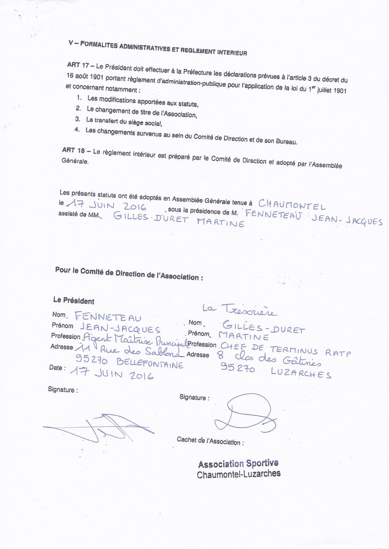 R glement int rieur club football association sportive for Reglement interieur association sportive