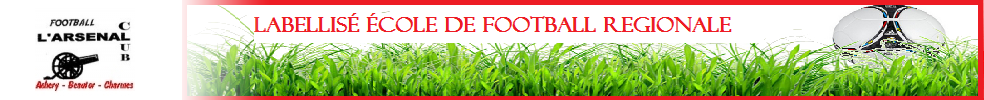 Site Internet officiel du club de football L'ARSENAL CLUB ACHERY-BEAUTOR-CHARMES