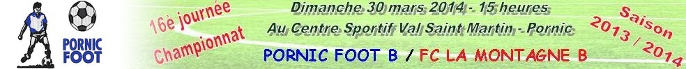 Site Internet officiel du club de football PORNIC FOOT