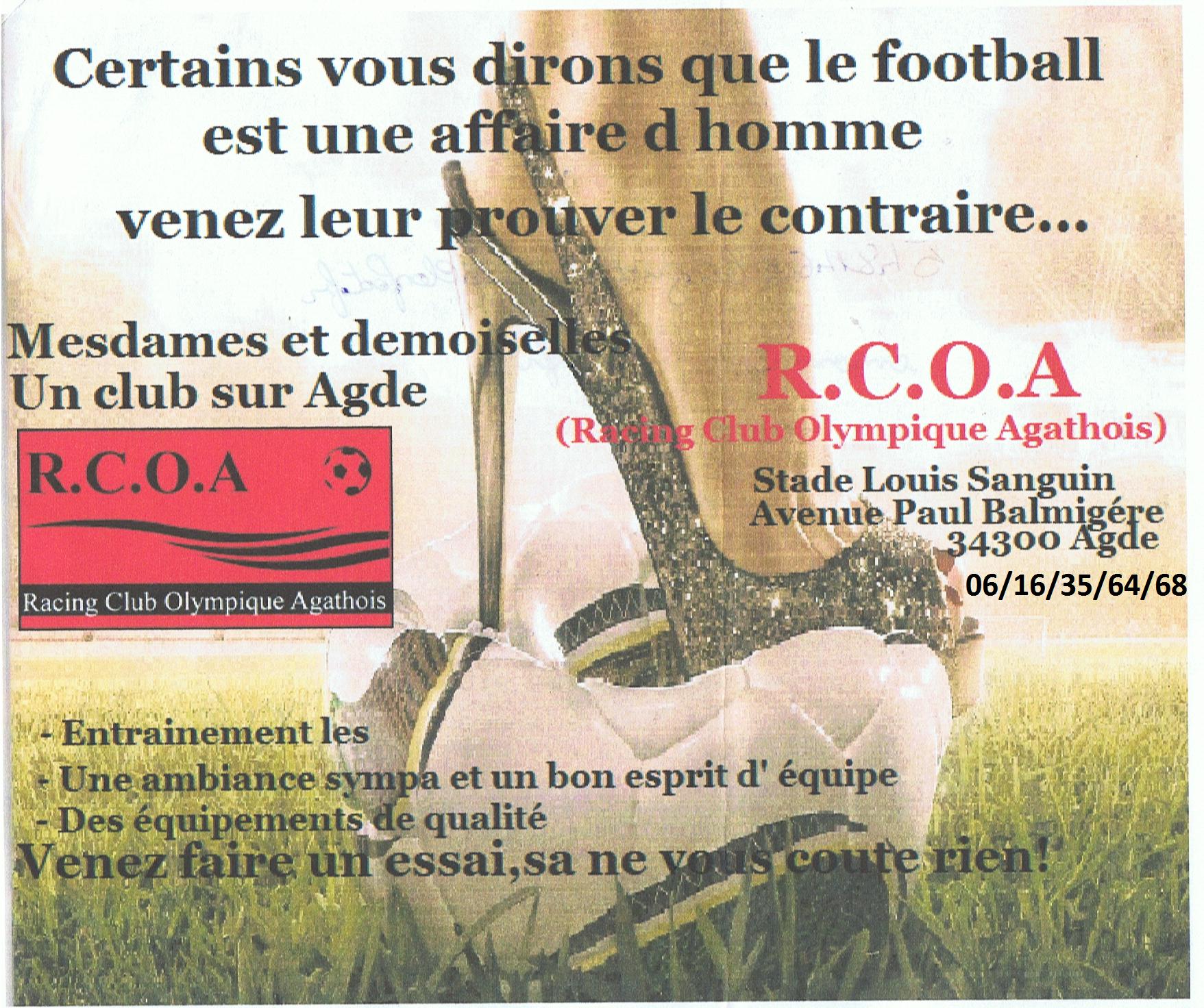 Equipe Féminine  RCO AGDE 2013-2014